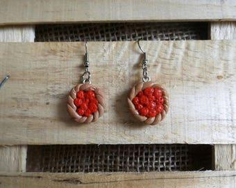 Tart Apple earrings pair