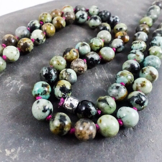 Knotted African Turquoise Necklace