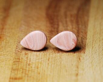 Hypoallergenic Teardrop Earrings - Polymer Clay Earrings - Earrings For Sensitive Ears - Teardrop Shaped - Nickel Free Earrings - Plastic