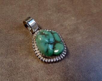 Variscite Pendant, Silver Variscite Pendant, Sterling Silver Variscite, Ladies Variscite Necklace, Under 100, Healing Stone, 1139