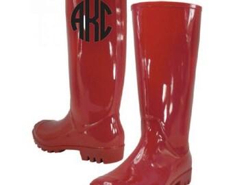 Monogram 13.25 Inches Women's Rain Boots