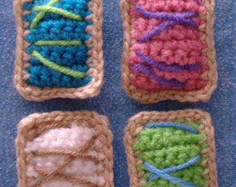 Mini Crochet Toaster Tart  > Cat Toy > Crochet > Gifts for Purr