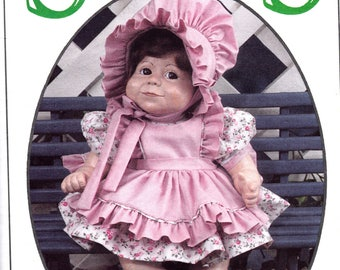 """Doll Clothes Pattern SYNDEE'S CRAFTS 24006, Gabby Ann doll clothes all sizes 21"""" 16"""" 10"""" doll dress panties and bonnet"""