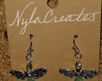 Dragonfly Fairy Angel Earrings