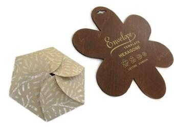 Hexagon Wooden Envelope Template