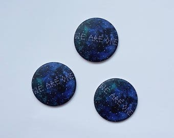 """set of 3 magnets """"we are one"""""""