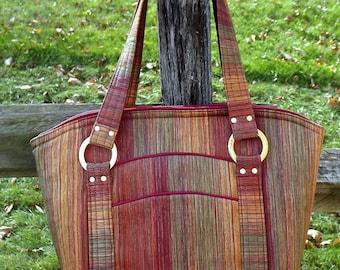 Autumn Stripes Handbag