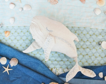 Whale toy, whale kids gift, whale toy, handmade whale, child's toy, stuffed toy for kids, child friendly toys, baby shower gift