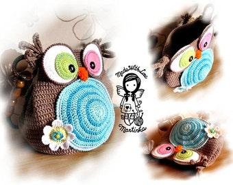 Crochet PATTERN, Crochet Bag Pattern,Bag Jolly Owl, Owl Purse, DIY Pattern 28