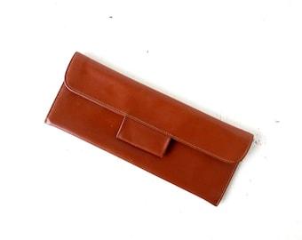 Leather Envelope Clutch | 40s Purse | 1940s Clutch