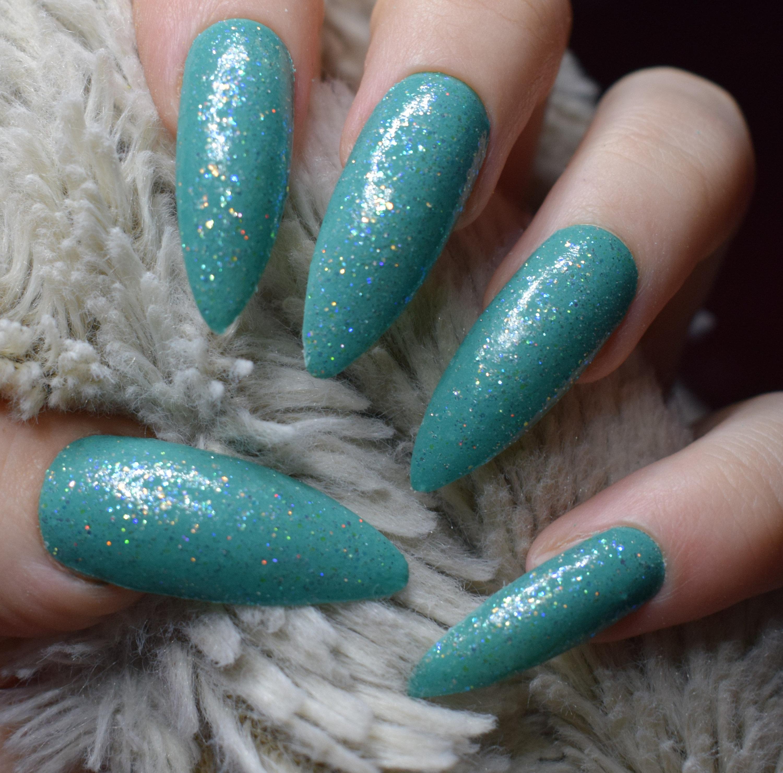 Glow In The Dark Green Nails Fake Nails, Extra Long Stiletto False ...