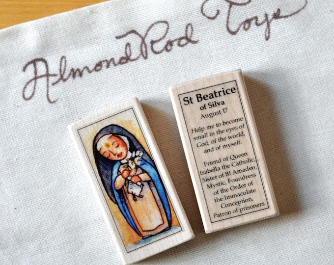 St Beatrice of Silva Patron Saint Block // 100+ Catholic Saints to choose from // Catholic girl