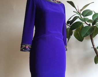 Adorned with purple dress 80s