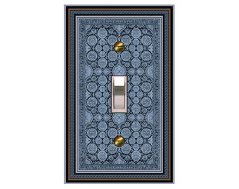 choose sizes / prices from drop down box0422B - Persian Rug Bkgd switchplate - mrs butler switch plate covers - - match/match with 0422a