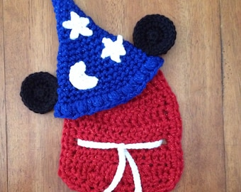 Disney inspired sorcerer Mickey cuddle cape set