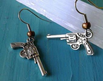 Gun Earrings