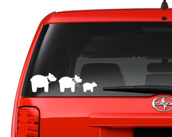 Bear family decals, your choice of color and family members