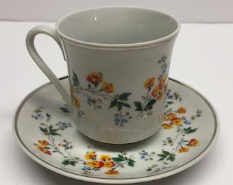 Vintage Demitasse Cup and Saucer Real Brasil By Leart