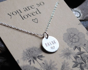 READY 2 SHIP . You Are So Loved  .  Personalized Name Necklace