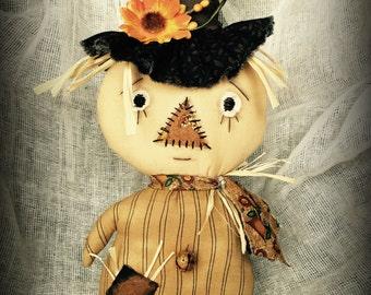 Scarecrow | Scarecrow doll | Fall decor | Fall | Harvest | Primitive Scarecrow doll | Sunflower | Primitive Fall Doll