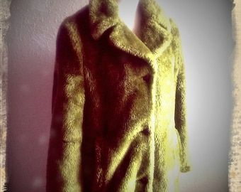 ENVY   ///    Rock Retro 70s Faux Fur Coat