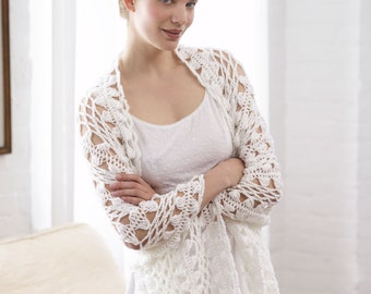 Woman's Hairpin Lace Shawl Crochet,Hairpin Crochet Shawl,Bridal Shawl - lace fashion,