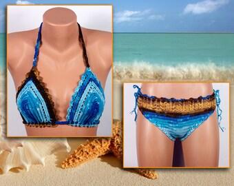 Crochet bikini, Women Swimsuit, Summer trends by LoveKnittings