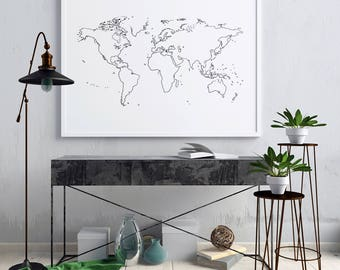 Topo lines world map print world map poster world map wall world map wall art world map poster world map print world map art black and white wall art black and white print gumiabroncs Choice Image