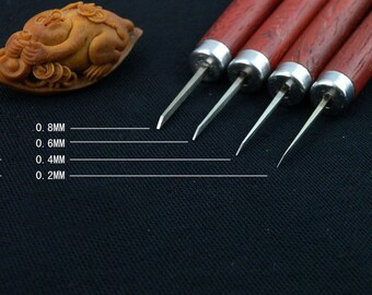Professional olive carving knife carving tools, carving tools woodcarving tools especially small micro carving 4 knife set
