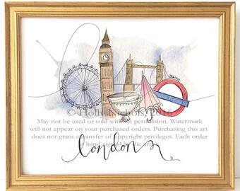 London Whimsy (Fashion Illustration Print)