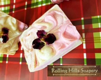 Orchard Petals, Artisan Soap, Crisp Apple Rose, Glitter & Rose Petals