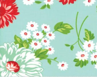 INSTOCK The Good Life June Aqua by Bonnie and Camille from Moda -1 yard