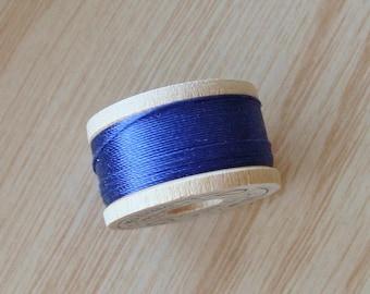 Vintage Pure Silk Buttonhole Twist Thread Spool 10 yards Size D Shade 6225