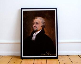 Alexander Hamilton Musical Play (Lin Manuel Miranda) Classic Painting Photoshop Poster Print