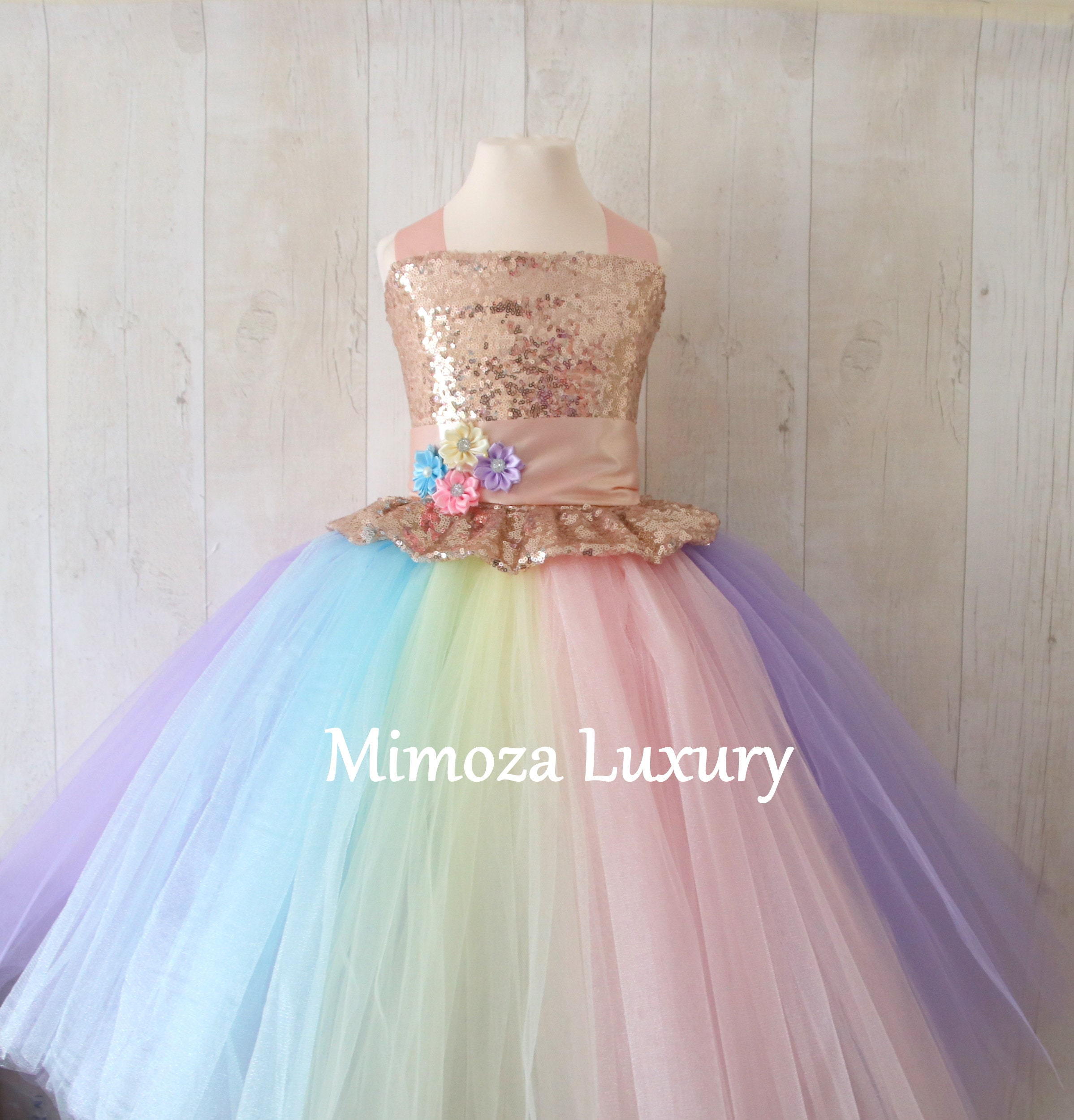 Luxury Unicorn Birthday Dress Unicorn Tutu Dress Rainbow