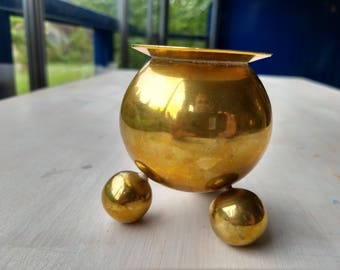 Traditional Norwegian candle holder in brass