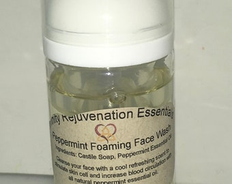Peppermint Foaming Face Wash or Citrus Blend Foaming Face Wash