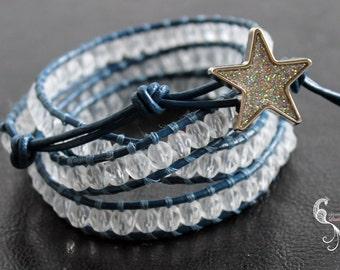 leather wrap bracelet, beaded wrap bracelet, wrap beaded bracelet, leather bracelets women, beaded jewelry, boho jewelry, beaded braclets