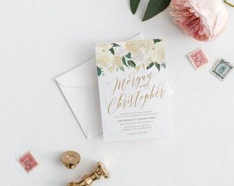 Rustic Wedding invitation, wedding invitations, printable invitation, wedding invite, invitation template, wedding invites RIANA