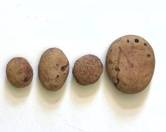A Set of Four Handmade Stoneware Rocks, Facsimile Rocks, Ceramic Art, Collectible Art