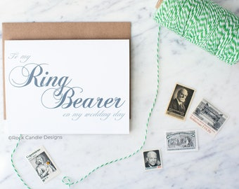 To My Ring Bearer On My Wedding Day Card | Stationery for Ring Bearer | Cute Way To Make Your Ring Bearer Feel Special On Your Wedding Day