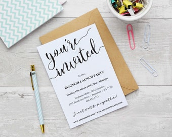 Launch party etsy business launch invitation template instant download editable business template business invite launch stopboris Image collections