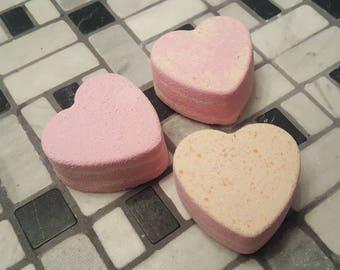 Lavender Vanilla Bath Bomb, Heart Bath Bomb, Vanilla Bath Bomb, Lavender Bath Bomb, Bath Fizzy, Sweetheart Bath Bomb