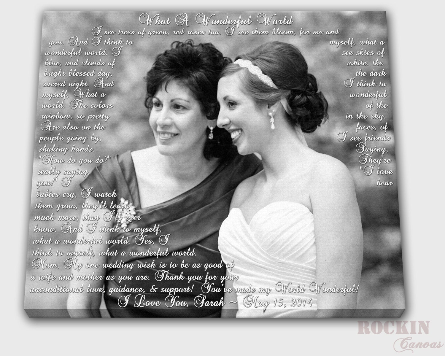Mother Of The Bride Gift Custom Photo