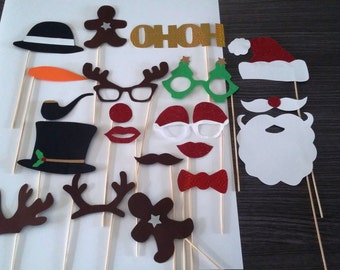 X 20 Christmas photobooth props