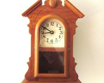 Vintage Wood Carved Clock Repair