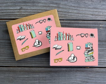 Book Nerd Blank Card Set