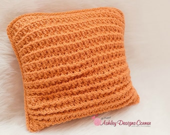 Crochet Pattern Waffle Pillow - PDF - Instant Digital Download