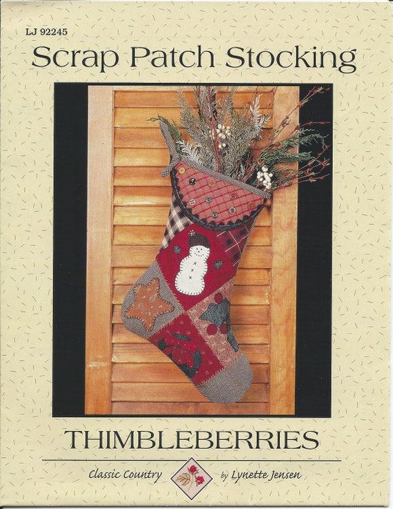 Thimbleberries Christmas Stocking Sewing Craft Pattern, LJ 92245 ...