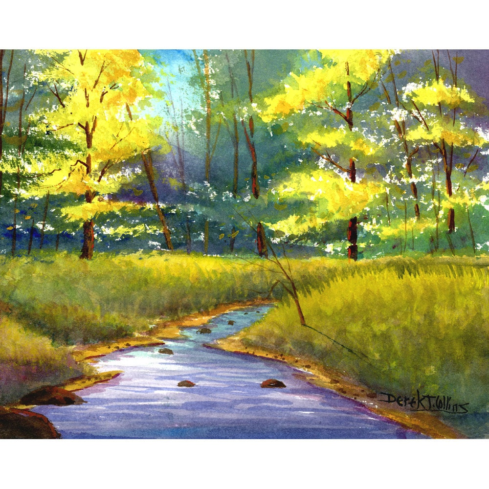 Painting Watercolor Painting Print watercolor landscape